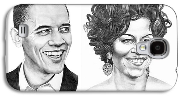 Barrack And Michelle Obama Galaxy S4 Case by Murphy Elliott