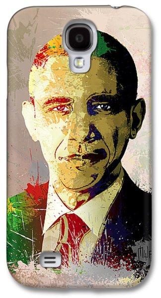 Barrack Obama Galaxy S4 Cases - Barrack Obama Galaxy S4 Case by Anthony Mwangi