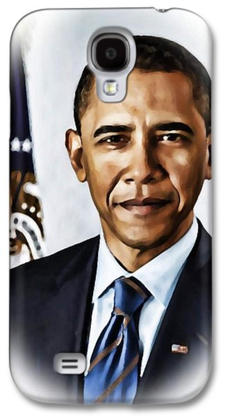 Barrack Obama Galaxy S4 Cases - Barrack Obama Galaxy S4 Case by Tyler Robbins