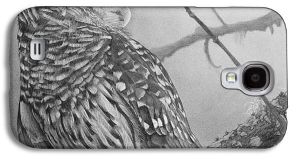 Graphite Galaxy S4 Cases - Barred Owl Galaxy S4 Case by Tim Dangaran