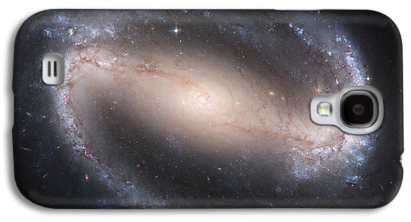 Galactic Paintings Galaxy S4 Cases - Barred Spiral Galaxy Galaxy S4 Case by Nasa