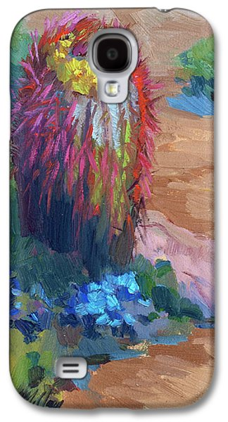 Barrel Galaxy S4 Cases - Barrel Cactus In Bloom Galaxy S4 Case by Diane McClary
