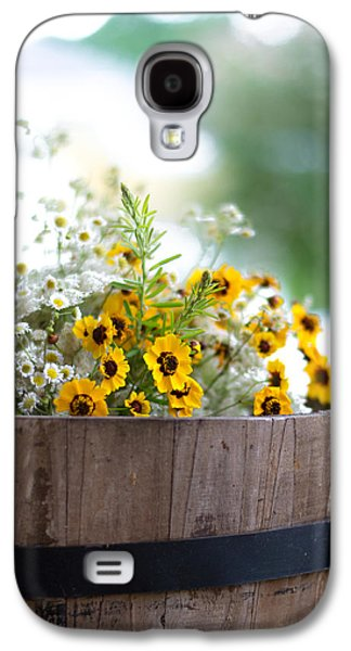 Weed Line Galaxy S4 Cases - Barrel of Wildflowers Galaxy S4 Case by Shelby  Young