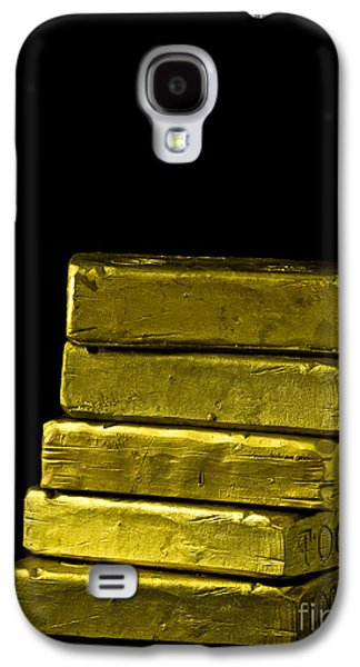 Investment Galaxy S4 Cases - Bars of Gold Galaxy S4 Case by Edward Fielding