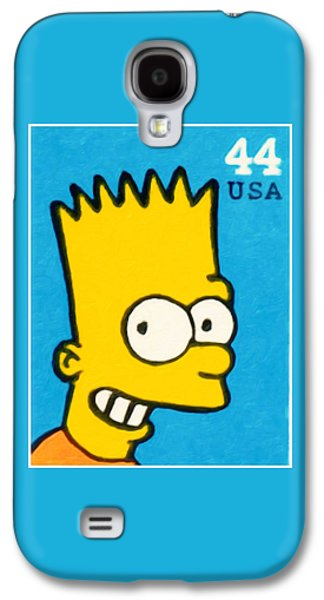Animation Paintings Galaxy S4 Cases - Bart Simpson Galaxy S4 Case by Lanjee Chee