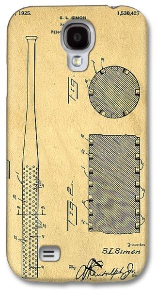 Sports Photographs Galaxy S4 Cases - Baseball Bat Patent Galaxy S4 Case by Edward Fielding
