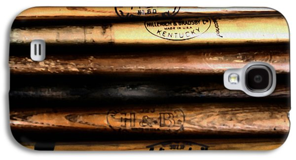 Bat Digital Art Galaxy S4 Cases - Baseball Bats Galaxy S4 Case by Bill Cannon