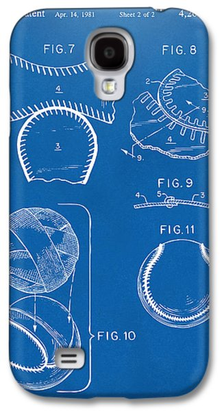Diy Galaxy S4 Cases - Baseball Construction Patent 2 - Blueprint Galaxy S4 Case by Nikki Marie Smith