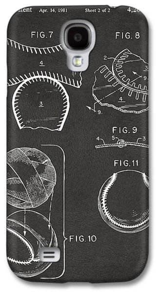 Diy Galaxy S4 Cases - Baseball Construction Patent 2 - Gray Galaxy S4 Case by Nikki Marie Smith