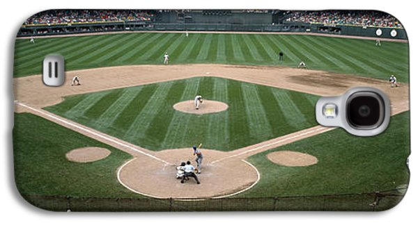 Sports Photographs Galaxy S4 Cases - Baseball Match In Progress, U.s Galaxy S4 Case by Panoramic Images