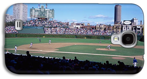 Baseball Uniform Galaxy S4 Cases - Baseball Match In Progress, Wrigley Galaxy S4 Case by Panoramic Images
