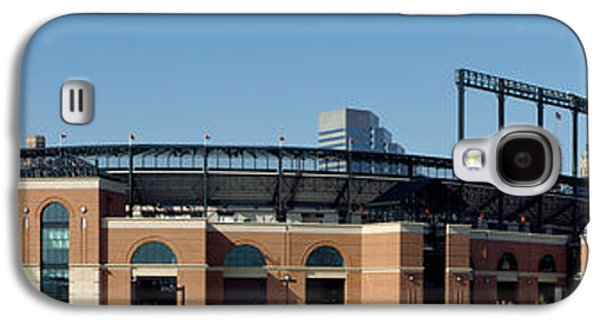 Sports Photographs Galaxy S4 Cases - Baseball Park In A City, Oriole Park Galaxy S4 Case by Panoramic Images