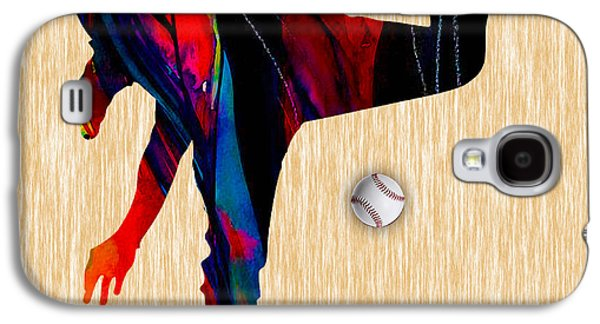Baseball Pitcher Galaxy S4 Case by Marvin Blaine
