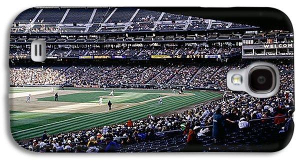 Sports Photographs Galaxy S4 Cases - Baseball Players Playing Baseball Galaxy S4 Case by Panoramic Images
