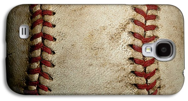 Sports Photographs Galaxy S4 Cases - Baseball Seams Galaxy S4 Case by David Patterson