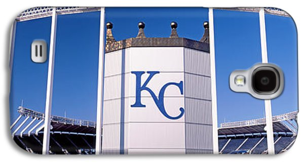Sports Photographs Galaxy S4 Cases - Baseball Stadium, Kauffman Stadium Galaxy S4 Case by Panoramic Images