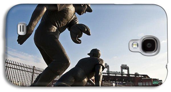 Citizens Bank Park Galaxy S4 Cases - Baseball Statue at Citizens Bank Park Galaxy S4 Case by Bill Cannon
