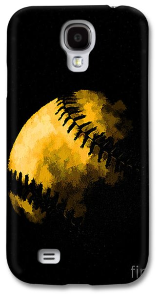 Pastimes Galaxy S4 Cases - Baseball the American Pastime Galaxy S4 Case by Edward Fielding