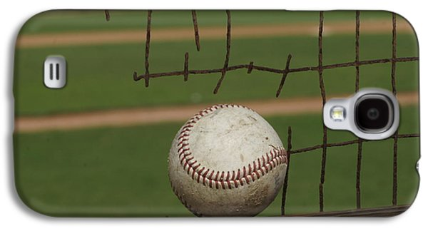 Sports Pyrography Galaxy S4 Cases - Baseball Time Galaxy S4 Case by Rosalie Vaccaro