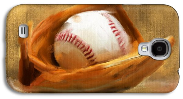 American Galaxy S4 Cases - Baseball V Galaxy S4 Case by Lourry Legarde
