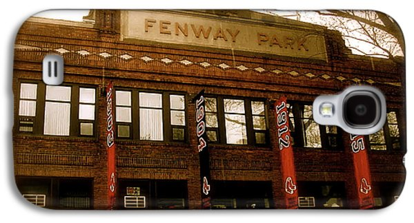 Image Photographs Galaxy S4 Cases - Baseballs Classic  Bostons Fenway Park Galaxy S4 Case by Iconic Images Art Gallery David Pucciarelli