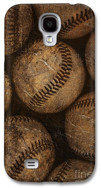 Sports Photographs Galaxy S4 Cases - Baseballs Galaxy S4 Case by Diane Diederich
