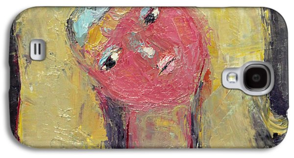 Becky Kim Paintings Galaxy S4 Cases - Bashful Galaxy S4 Case by Becky Kim