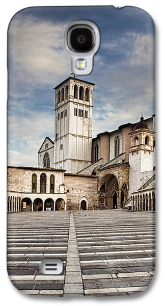 Religious Galaxy S4 Cases - Basillica of St Francis of Assisi in Italy Galaxy S4 Case by Susan  Schmitz