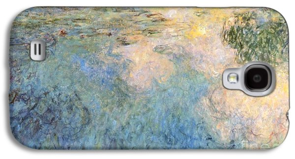 Simplistic Galaxy S4 Cases - Basin of water lilies Galaxy S4 Case by Claude Monet