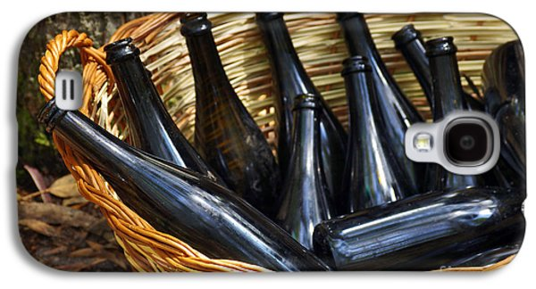 Alcohol Photographs Galaxy S4 Cases - Basket with Bottles Galaxy S4 Case by Carlos Caetano