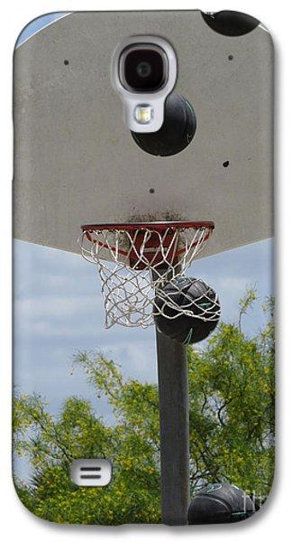 Slam Galaxy S4 Cases - Basketball - All Net Galaxy S4 Case by Ella Kaye Dickey