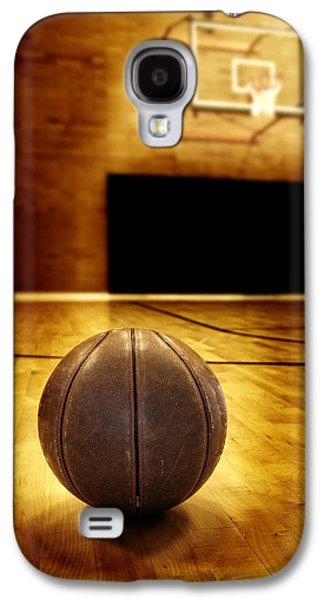 Basket Ball Game Galaxy S4 Cases - Basketball Court Competition Galaxy S4 Case by Lane Erickson