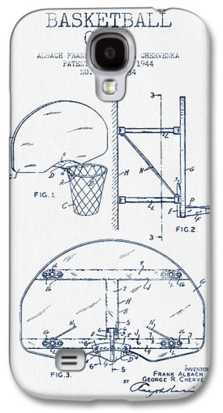 Basketball Goal Patent From 1944 - Blue Ink Galaxy S4 Case by Aged Pixel