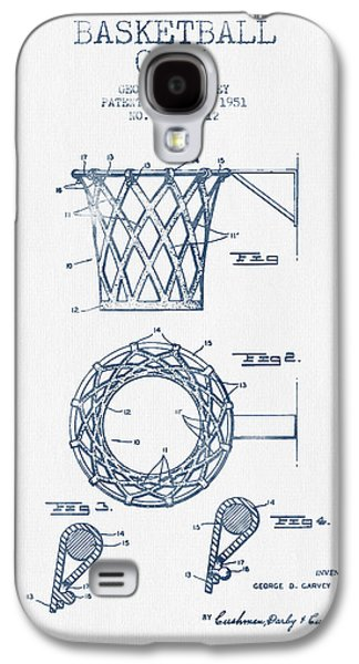Dunk Galaxy S4 Cases - Basketball Goal patent from 1951 - Blue Ink Galaxy S4 Case by Aged Pixel