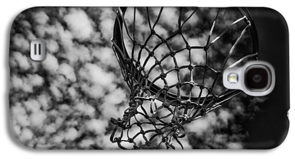 Basketball Abstract Galaxy S4 Cases - Basketball Heaven Galaxy S4 Case by Karol  Livote