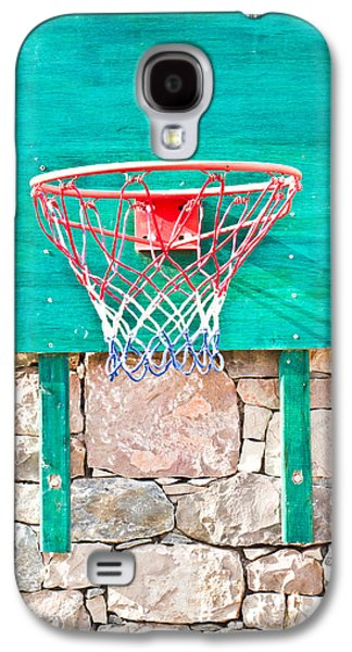 Sports Photographs Galaxy S4 Cases - Basketball net Galaxy S4 Case by Tom Gowanlock