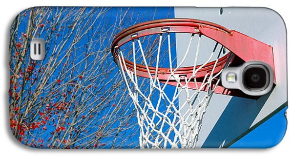 Basket Ball Game Galaxy S4 Cases - Basketball Net Galaxy S4 Case by Valentino Visentini