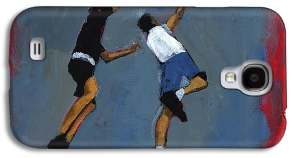 Slam Galaxy S4 Cases - Basketball Players, 2009 Acrylic On Board Galaxy S4 Case by Paul Powis