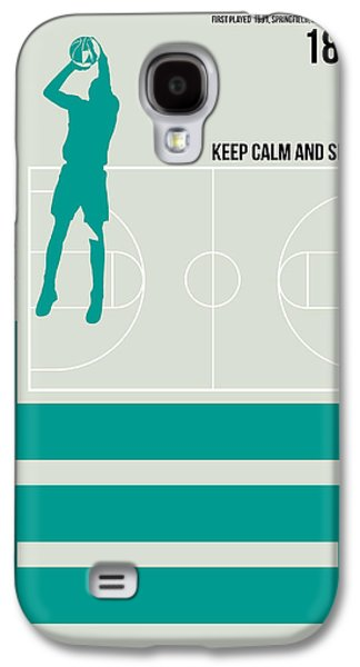 Basketball Poster Galaxy S4 Case by Naxart Studio