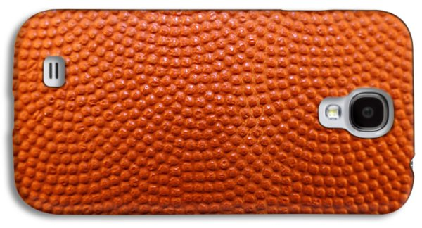 Sports Photographs Galaxy S4 Cases - Basketball texture Galaxy S4 Case by Les Cunliffe