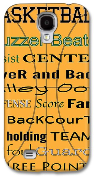 Dunk Galaxy S4 Cases - BASKETBALL typography Galaxy S4 Case by Terry Weaver