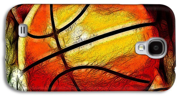 Basketball Abstract Galaxy S4 Cases - Basketballs Abstract Galaxy S4 Case by David G Paul