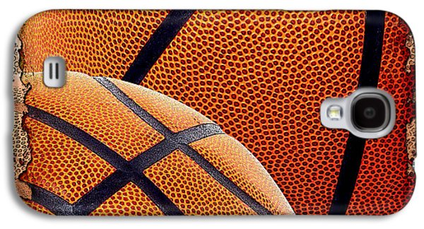 Basketball Abstract Galaxy S4 Cases - Basketballs  Galaxy S4 Case by David G Paul