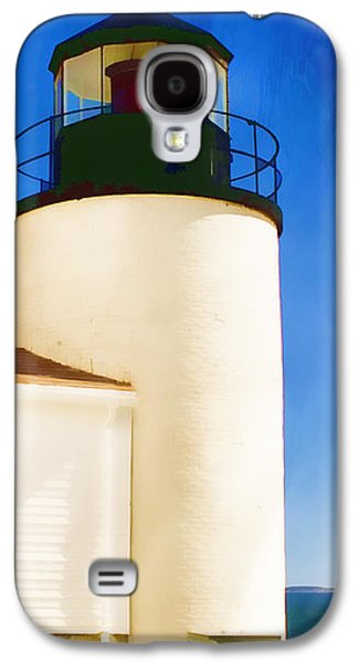 Bass Digital Art Galaxy S4 Cases - Bass Harbor Head Lighthouse Maine Galaxy S4 Case by Carol Leigh