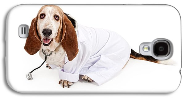 Doctor Photographs Galaxy S4 Cases - Basset Hound Dressed as a Veterinarian Galaxy S4 Case by Susan Schmitz