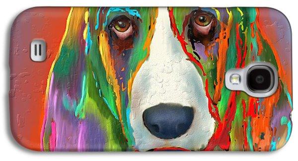 Puppy Digital Galaxy S4 Cases - Basset Hound Galaxy S4 Case by Marlene Watson