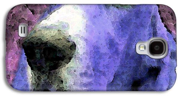 Hounds Galaxy S4 Cases - Basset Hound - Pop Art Purple Galaxy S4 Case by Sharon Cummings