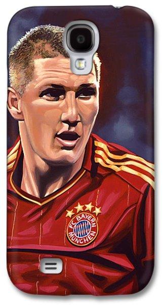 League Galaxy S4 Cases - Bastian Schweinsteiger Galaxy S4 Case by Paul Meijering