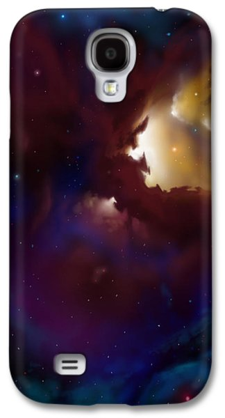 Planet System Paintings Galaxy S4 Cases - Bat Nebula Galaxy S4 Case by James Christopher Hill