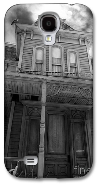 Haunted House Digital Art Galaxy S4 Cases - Bates Motel 5D28867 bw Galaxy S4 Case by Wingsdomain Art and Photography
